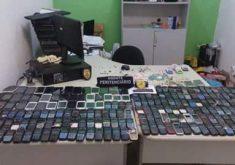 Foram apreendidos 230 celulares apenas na CPPL III (FOTO: Reprodução/Whatsapp)