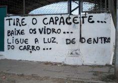 Registro de frase semelhante em Fortaleza. (FOTO: reprodução/ whatsapp)