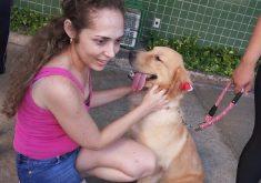 veterinária-karine-com-cachorro
