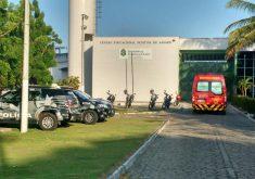 De acordo com moradores, pelo menos 20 adolescentes teriam fugido (FOTO: Luciana Lemos/TV Jangadeiro)