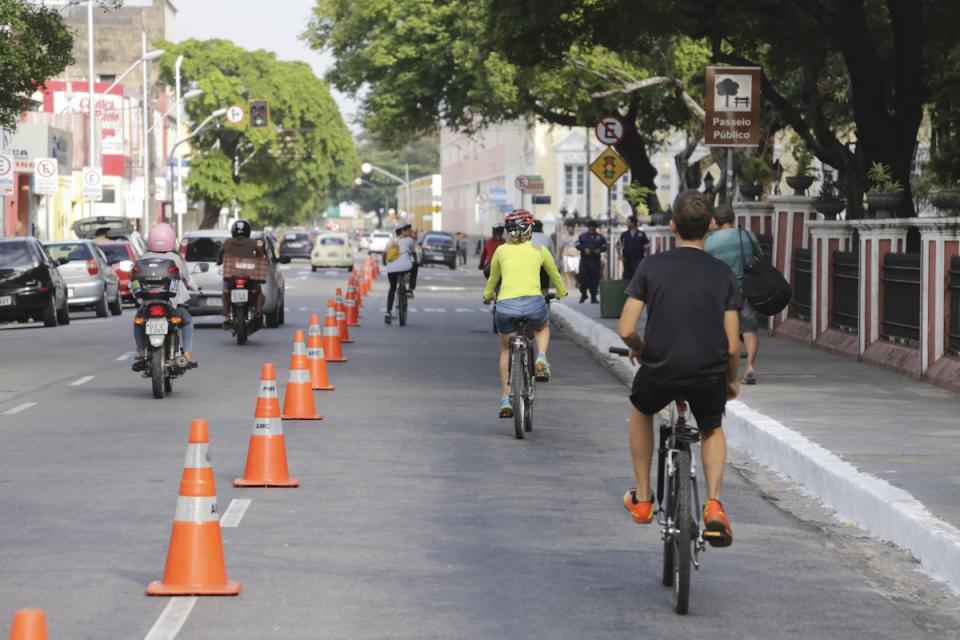 Ciclofaixa de Lazer tem rota alterada em Fortaleza por causa do Ironman