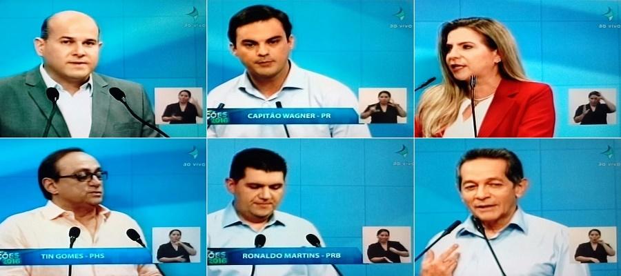 Candidatos apostam em educação e moradia em suas propostas no debate da TV Jangadeiro
