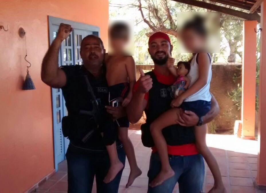 Resgatadas 2 crianças sequestradas em Fortaleza