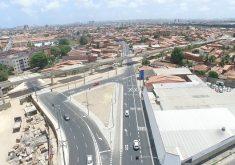 Binário da Parangaba alterou tráfego principalmente nas ruas Germano Franck e Barão de Canindé. (Foto: Divulgação/Prefeitura de Fortaleza)