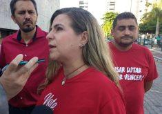 """Luizianne Lins chamou os irmãos Cid e Ciro Gomes (PDT) de """"medíocres"""" e """"oligarcas"""" (FOTO: TV Jangadeiro)"""