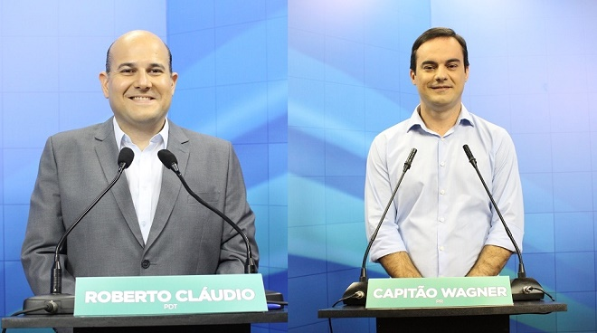 Primeira pesquisa para o 2º turno aponta Roberto Cláudio 48% x Capitão Wagner 34%