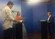 Debate foi transmitido, simultaneamente, pela primeira vez, em todos os veículos de comunicação do grupo. (FOTO: Tribuna do Ceará)