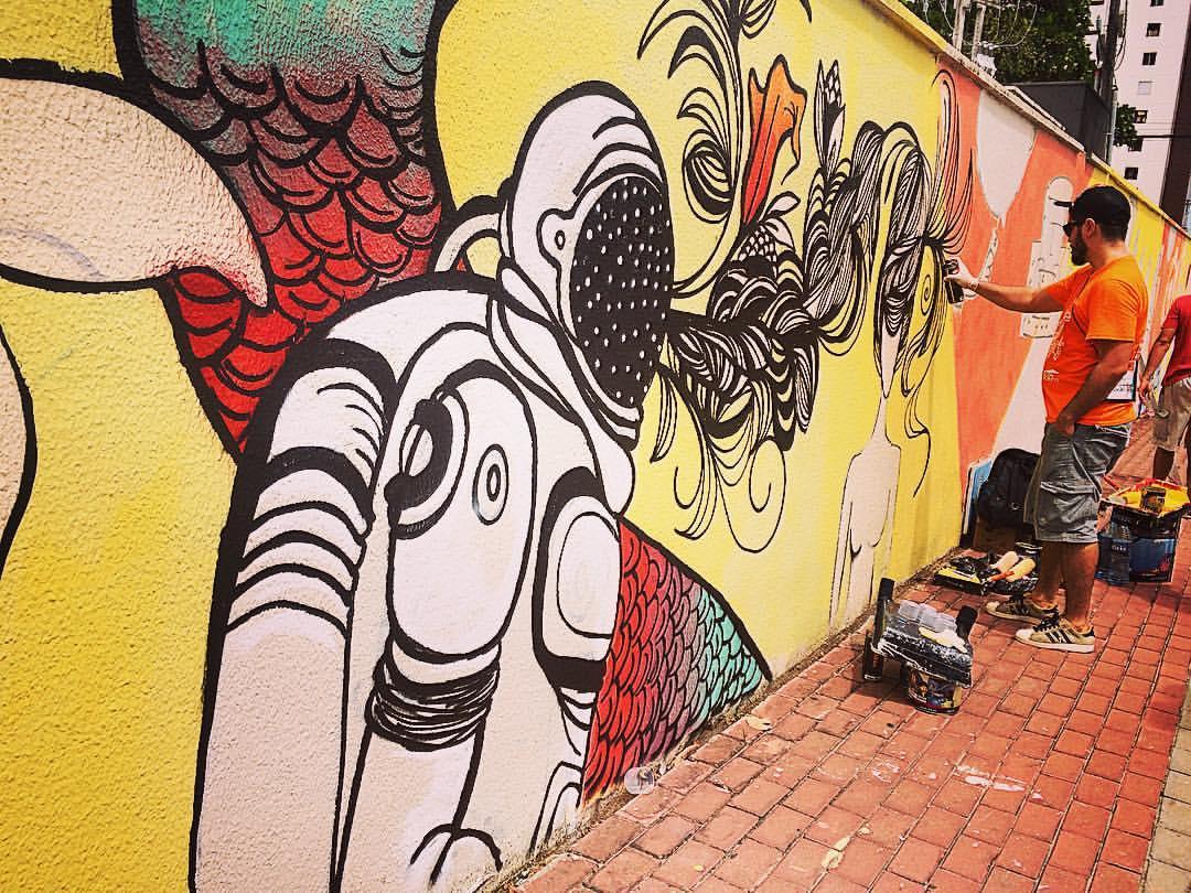 Primeiras ações do Festival Concreto começam a colorir as ruas de Fortaleza