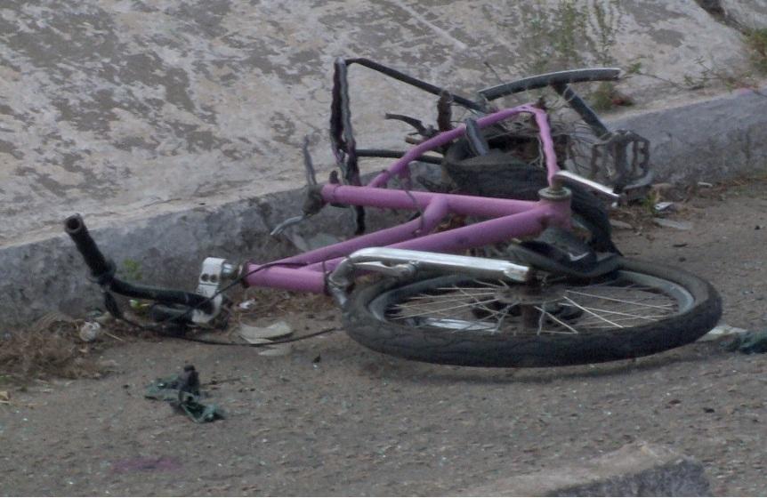 Bicicleta de Renan ficou completamente destruída