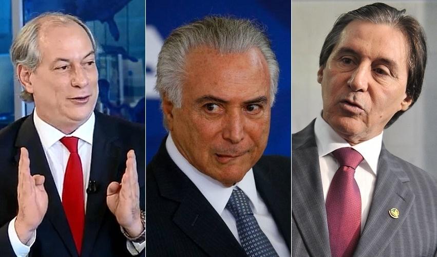 Temer pede que ninguém fale nome de Ciro Gomes em reunião, revela Eunício