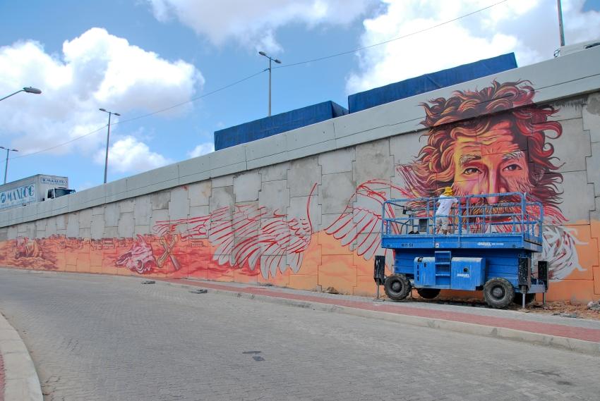 Viaduto da Av. Raul Barbosa recebe intervenção artística