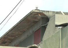 Lage desativada desabou. Foto: Reprodução/TV Jangadeiro