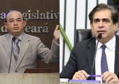 Sérgio Aguiar e Zezinho Albuquerque, candidatos à presidência da Assembleia. (FOTO: divulgação)