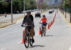 Ciclofaixa de Lazer será retomada dia 8 de janeiro. (Foto: Divulgação/Prefeitura de Fortaleza)