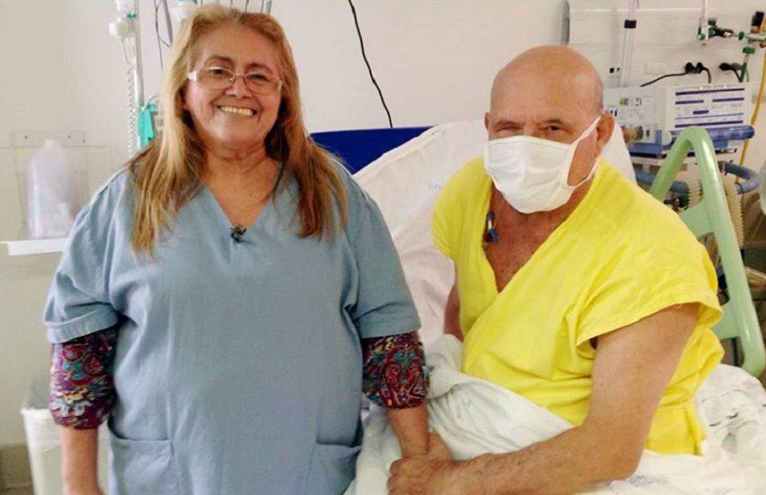 Aposentado recebe como presente transplante que esperava há 2 anos