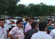Motoristas se confrontaram na tarde desta quarta-feira (FOTO: Reprodução)