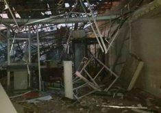 O banco ficou totalmente destruído (FOTO: Reprodução/Whatsapp)