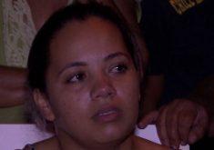 A filha sofre com a perda mãe e pela luta de encontrar o resto do corpo (FOTO: Reprodução/TV Jangadeiro)