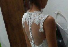 O vestido de noiva foi roubado na terça-feira (28)(FOTO: Arquivo pessoal)