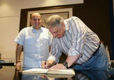 Moroni assinou na última terça-feira o cargo de prefeito interino (FOTO: Reprodução/Facebook)