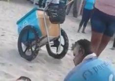 O vendedor levou um soco de um dos seguranças (FOTO: Reprodução)