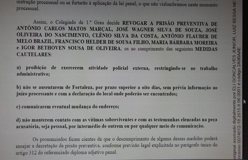 Após 7 meses presos, 8policiaisacusados de envolvimento na Chacina do Curió são soltos