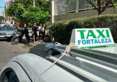 Taxista foi abordado na Rua Pereira Valente, próximo à Visconde de Mauá (FOTO: TV Jangadeiro/Dorian Girão)