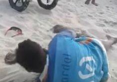O vendedor foi agredido na Praia do Futuro (FOTO: Reprodução)