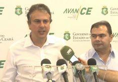 O governador do Ceará fez o pronunciamento nesta quinta-feira (4) (FOTO: Reprodução/TV Jangadeiro)