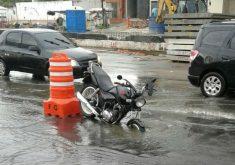 O acidente aconteceu na Avenida Aguanambi (FOTO: Reprodução/Whatsapp)