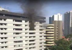 O incêndio aconteceu em um condomínio no Papicu (FOTO: Reprodução)