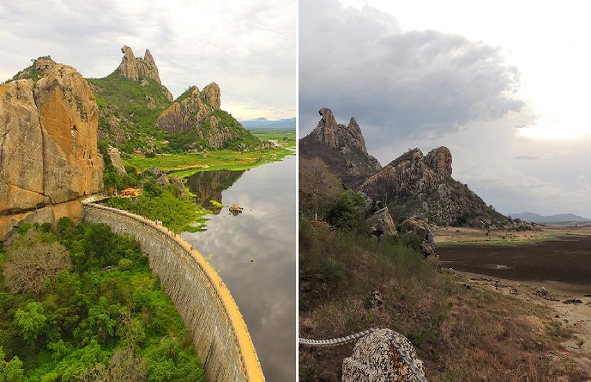 Leitores registram o contraste entre antes e depois das chuvas no açude Cedro