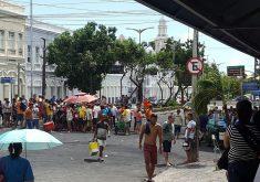 Decisão judicial impede que feirantes retomem atividades na José Avelino. (Foto: Adriano Paiva/Tribuna do Ceará)