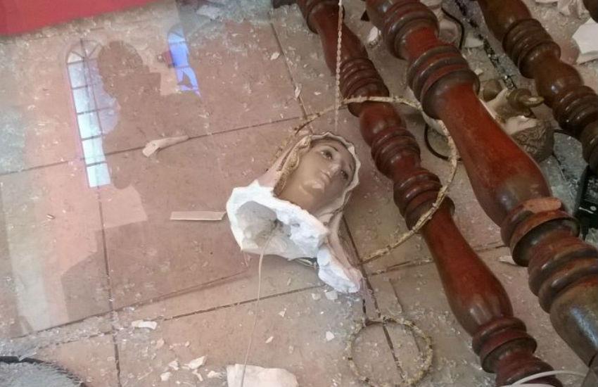 Homem invade igreja e destrói imagens sacras em Fortaleza
