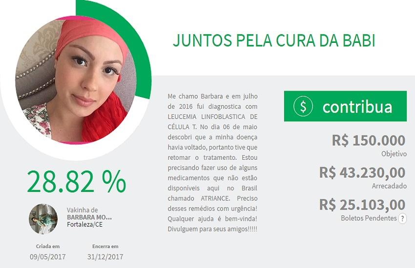 Campanha na internet busca pagar o tratamento de cearense com leucemia