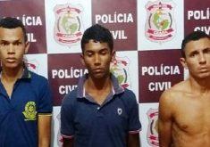 Trio confessou participação no crime. No meio, o cunhado da vítima (FOTO: Divulgação/SSPDS)