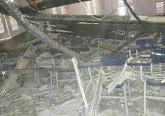 Desabamento atingiu três alunos (FOTO: Divulgação)