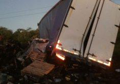 O acidente aconteceu na última terça-feira (13) (FOTO: Reprodução/Whatsapp)