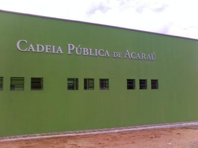 PM e agentes sofrem tentativa de envenenamento na cadeia pública de Acaraú