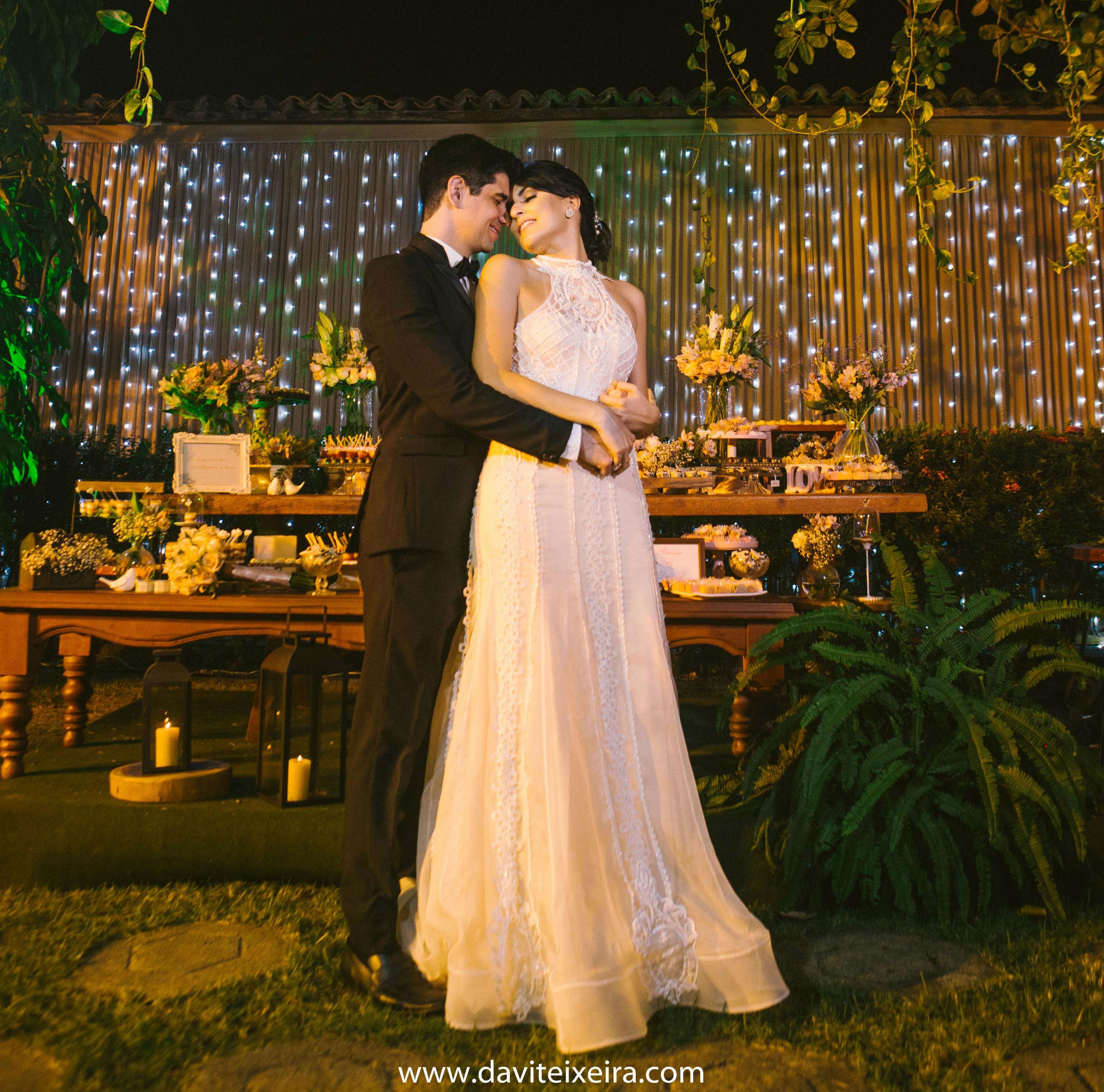 Raíssa e Daniel casaram no dia 15 de julho (FOTO: Davi Teixeira)
