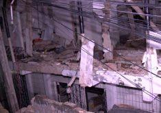 O segundo andar ficou destruído depois da explosão (FOTO: Reprodução/TV Jangadeiro)