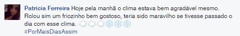 Frio em Fortaleza