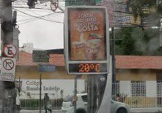 Termômetros na Aldeota marcou 20°, mas Funceme afirma que pode haver sensibilidade excessiva no equipamento. (Foto: Tribuna do Ceará)