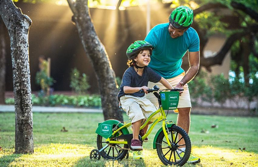 Primeira estação do Mini Bicicletar é inaugurada com festa neste domingo