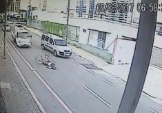 Ciclista faleceu no local (FOTO: Reprodução Whatsapp)