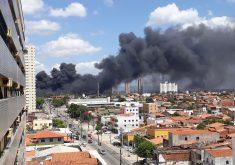 O incêndio pode ser visto de longe (FOTO: Divulgação)