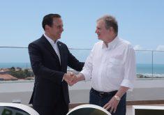 João Dória visitou o Ceará acompanhado por Tasso Jereissati. (Foto: André Lima/Fotos Públicas)