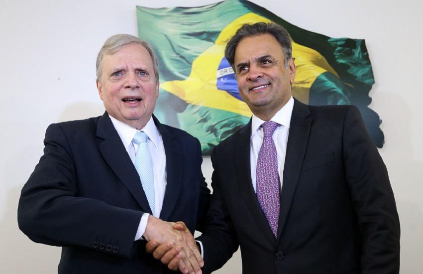 """Aécio Neves diz que Tasso tem """"as melhores condições"""" para presidir PSDB até dezembro"""