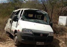 O acidente aconteceu no trecho entre Quixadá e Banabuiú (FOTO: Reprodução/Whatsapp)