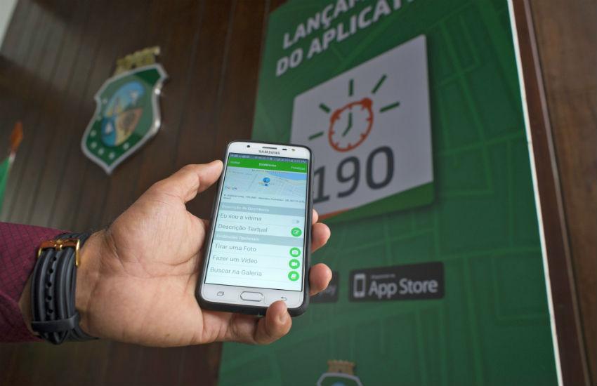 Serviço do 190 poderá ser chamado também através de aplicativo